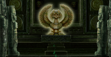 Geheimnisvolle Sphinx in Secret Relict